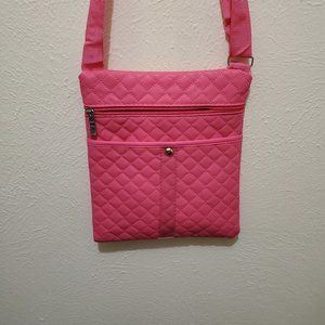 Child's Pink Quilted Purse with Wallet